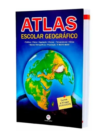 Kit C/2 Atlas escolar geografico